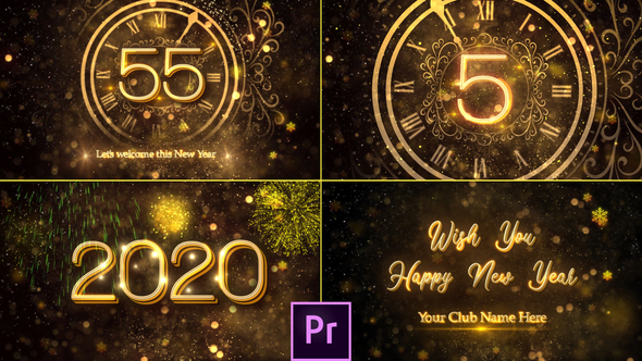 New Year Countdown 2020 – Premiere Pro
