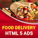 Food Delivery - HTML5 Animated Banner