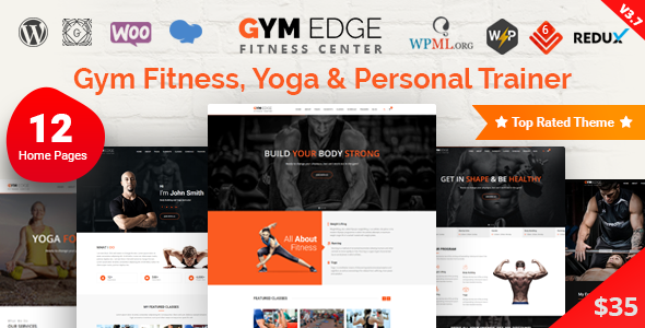 Gym Edge - Fitness WordPress Theme