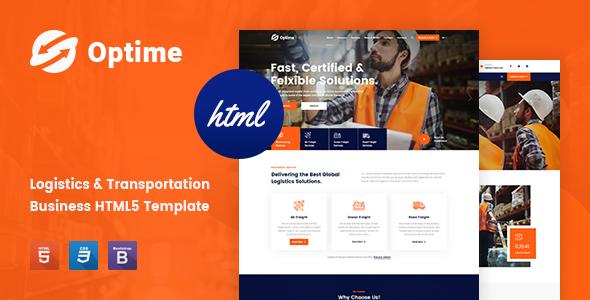 Great Optime - Logistics & Transportation HTML5 Template