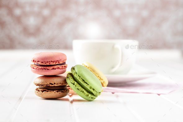 Sweet colorful macarons - Stock Photo - Images
