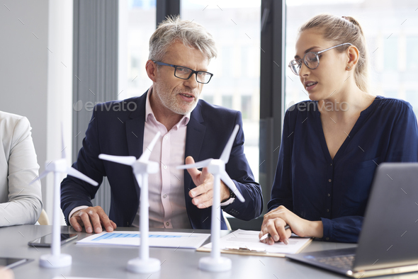 Business talks at conference table - Stock Photo - Images
