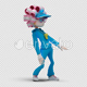 Cartoon Woman with Dancing Hiphop 02 - VideoHive Item for Sale