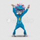 Cartoon Woman with Dancing Hiphop 03 - VideoHive Item for Sale