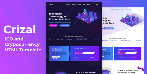 Special Crizal  - ICO and Cryptocurrency HTML Template