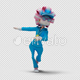 Cartoon Woman with Dancing Samba 02 - VideoHive Item for Sale