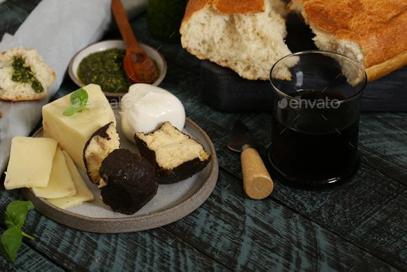 Natural Homemade Cheeses - Stock Photo - Images