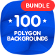 100 Different Abstract 3D Polygon Backgrounds Bundle