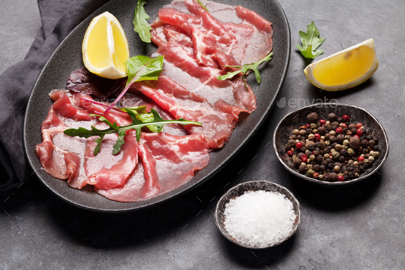 Marbled beef carpaccio - Stock Photo - Images