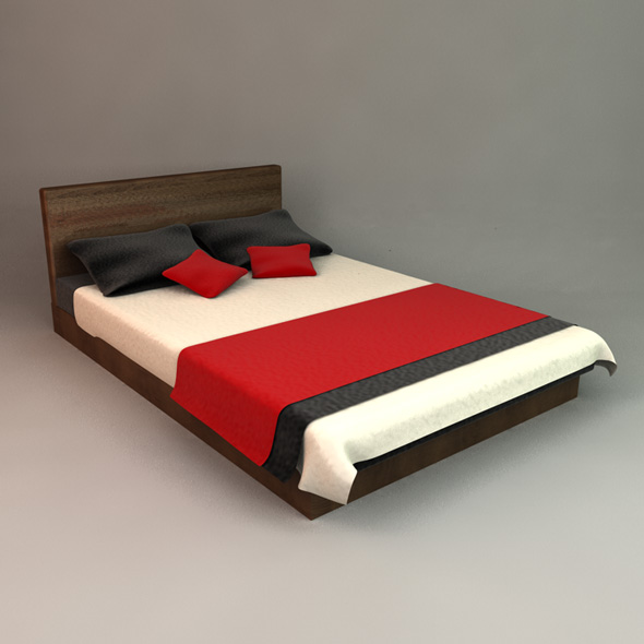 Stylish Bed - 3DOcean Item for Sale