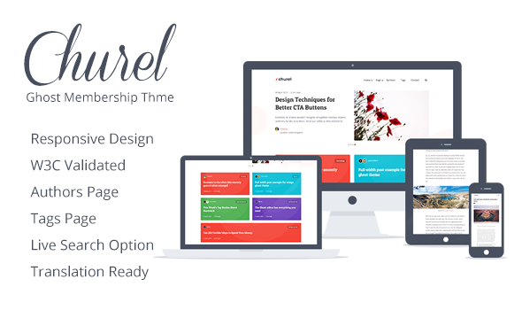 Churel - Dark and Light Membership and Subscription Ghost 3.1 Theme