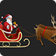 Santa Claus Riding Reindeer Sleigh - 20 Clips - HD - VideoHive Item for Sale
