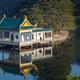 traditional pavilion at dusk on lushan mountain - PhotoDune Item for Sale