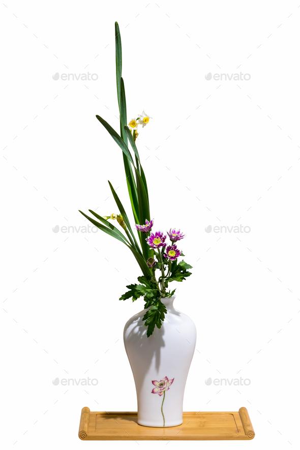 flower arrangement isolated - Stock Photo - Images