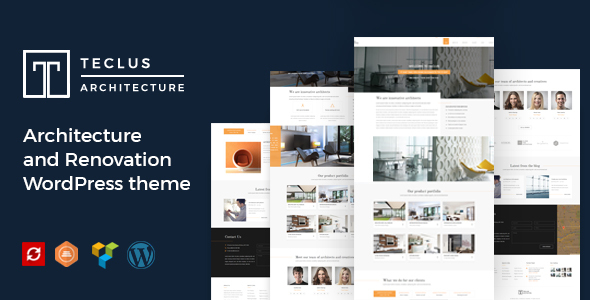 Teclus - Architecture and Renovation WordPress theme