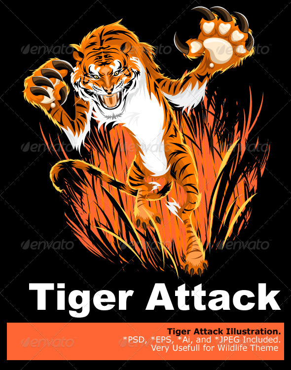 Tiger Ambush - Animals Characters