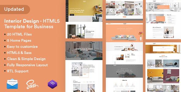 Interior Design - HTML5 Template for Business