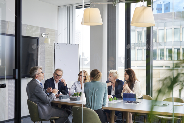 Group of business people in the conference room - Stock Photo - Images