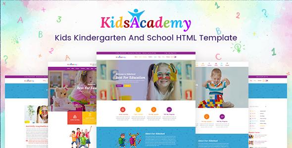 KidsAcademy -Kids Kindergarten & School HTML Template