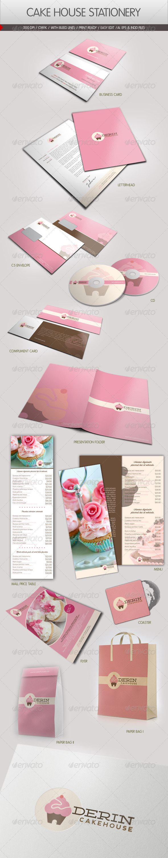 Cake House Corporate Identity - Stationery Print Templates