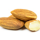 Almond nuts on white background - PhotoDune Item for Sale