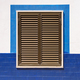 Closed window shutters of an mediterranean house - PhotoDune Item for Sale