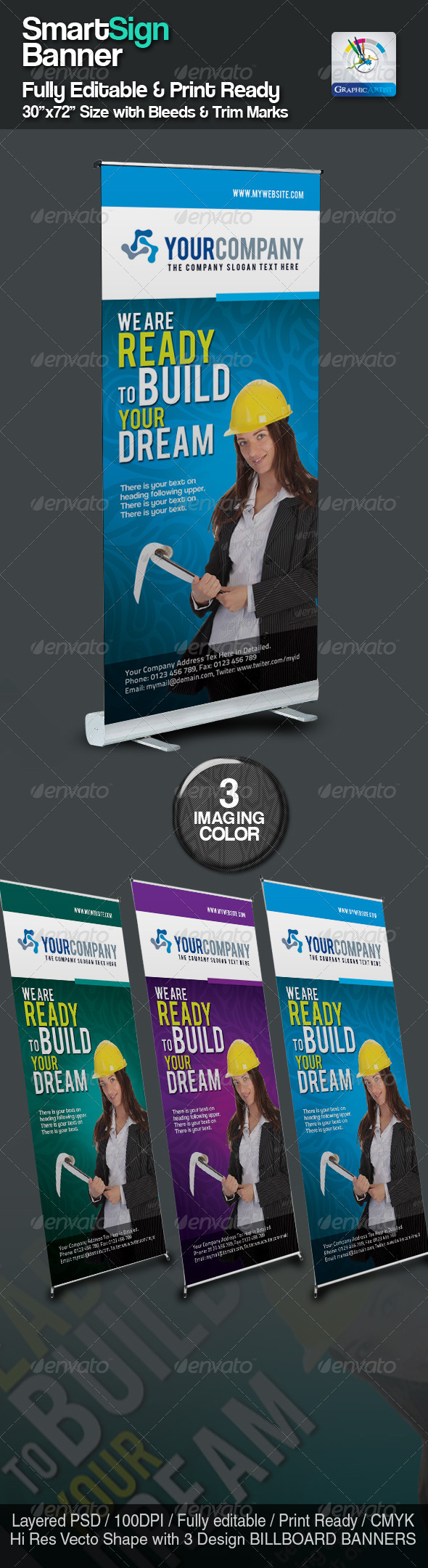 SmartSign Banner/Billboard Templates - Signage Print Templates
