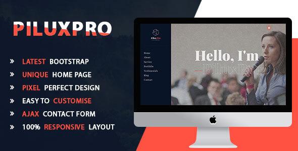 Piluxpro - Creative Portfolio Template