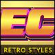 10 Retro Text Styles vol. 08