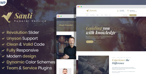Download Santi –  Funeral Home WordPress Theme Free Nulled