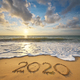 2020 year on the sea shore. - PhotoDune Item for Sale