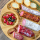 Assortment of salami with appetizers - PhotoDune Item for Sale