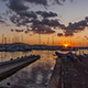Yachts in the Port Marina at Sunset Timelapse - VideoHive Item for Sale