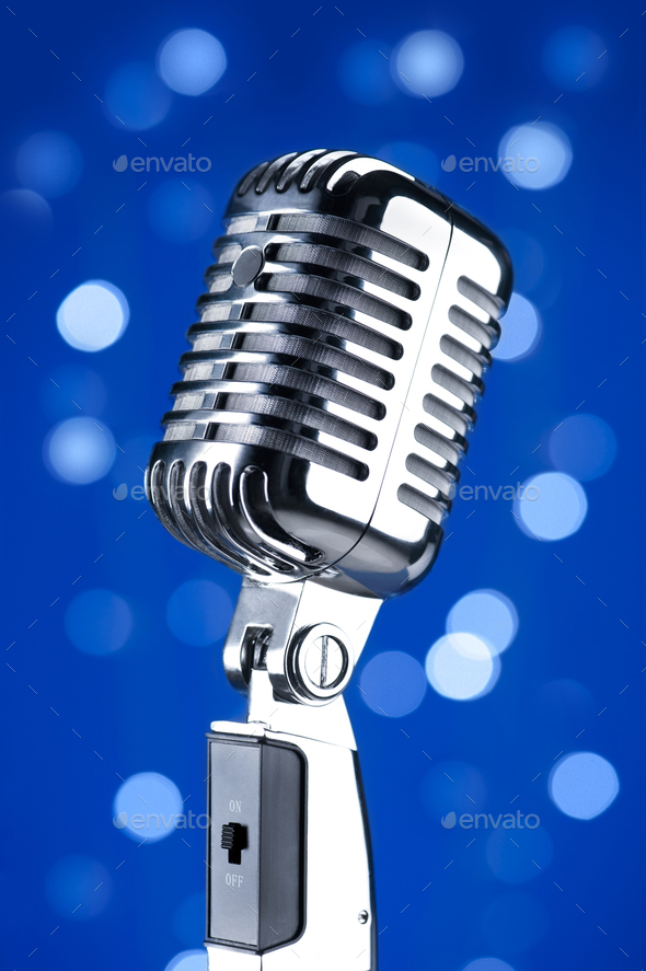 Vintage microphone - Stock Photo - Images