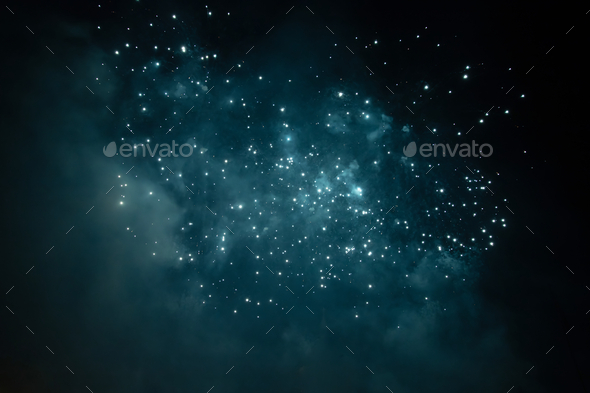 Celebrating New Year with fireworks - Stock Photo - Images