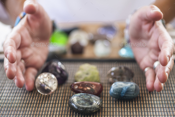 Combining Crystal Healing and Numerology - Stock Photo - Images