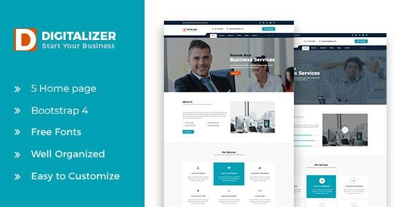 Digitalizer HTML5 Business Template