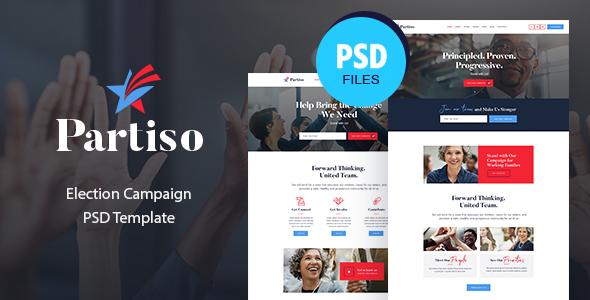 Partiso   Political Party PSD Template