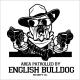English Bulldog Dog with Hat Two Pistols