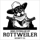 Rottweiler Dog with Glasses Two Pistols and Cigar