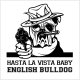English Bulldog Dog with Hat and Gun