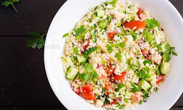 Traditional Lebanese Salad Tabbouleh. - Stock Photo - Images