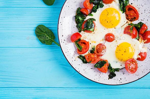 Breakfast. Ketogenic diet food. - Stock Photo - Images