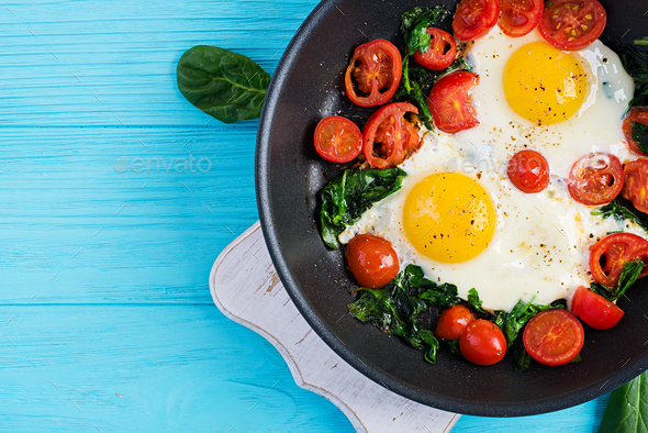 Breakfast. Ketogenic diet food. - Stock Photo - Images