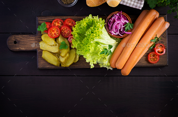 Ingredients for hot dog - Stock Photo - Images
