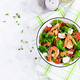 Delicious fresh salad with shrimps / prawns, broccoli, feta cheese, tomatoes, lettuce - PhotoDune Item for Sale