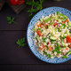Traditional Lebanese Salad Tabbouleh. Couscous with parsley, tomato, cucumber, lemon - PhotoDune Item for Sale