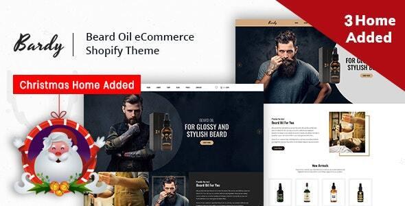 Bardy – Beard Oil Shopify Theme