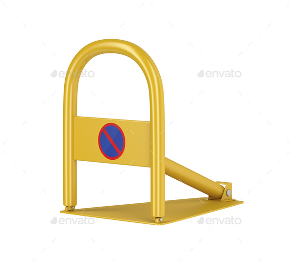 Yellow parking lock - Stock Photo - Images