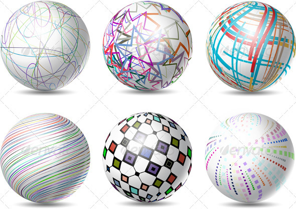 Abstract Spheres - Objects Vectors